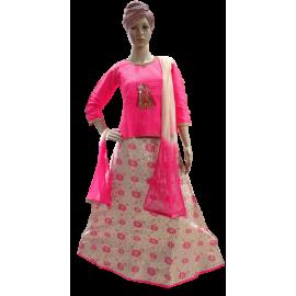 Embroidery cotton  Lehenga Chunni